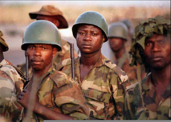 ECOMOG troops in Sierra Leone