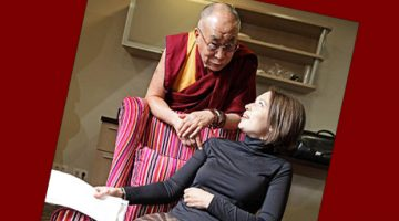 Inga Springe with the Dalai Lama.