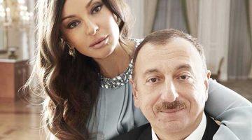 Azerbaijani President Ilham Aliyev and his wife Mehriban