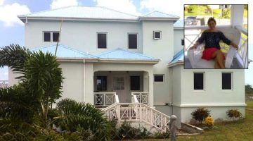 The Nevis home of Sarah Petre-Mears (inset), nominee director of more than 1,200 companies