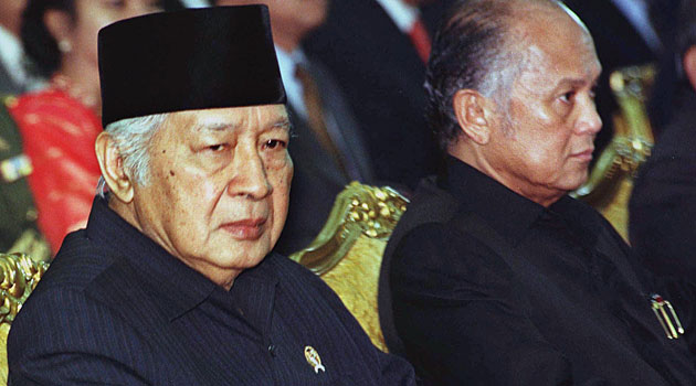 Names in the offshore records include billionaires linked to former Indonesian dictator Suharto (left) and the son of former president B