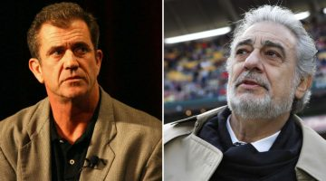 Mel Gibson and Placido Domingo