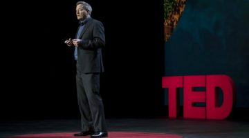 ICIJ Director Gerard Ryle takes to the stage at TED's June summit in Banff, Canada