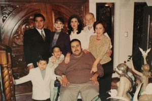 Jorge Abraham poses with his family