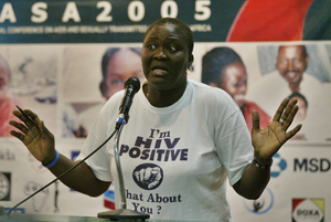 Rolake Odetoyinbo Nwagwu, project director of Positive Action For Treatment Access, at the International Conference on AIDS and Sexually Transmitted Infections in Africa in Abuja in December 2005