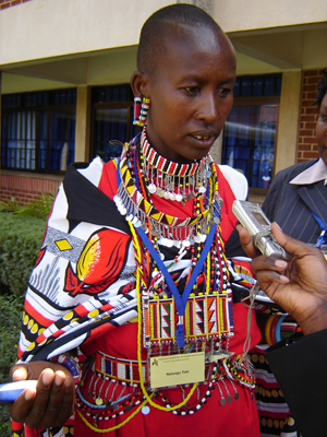 Nalangu Taki, a Masai woman from Narok in southwestern Kenya, cares for of 18 AIDS orphans in her home and is searching for funding to help them