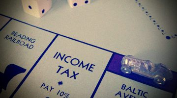 Monopoly game - income tax