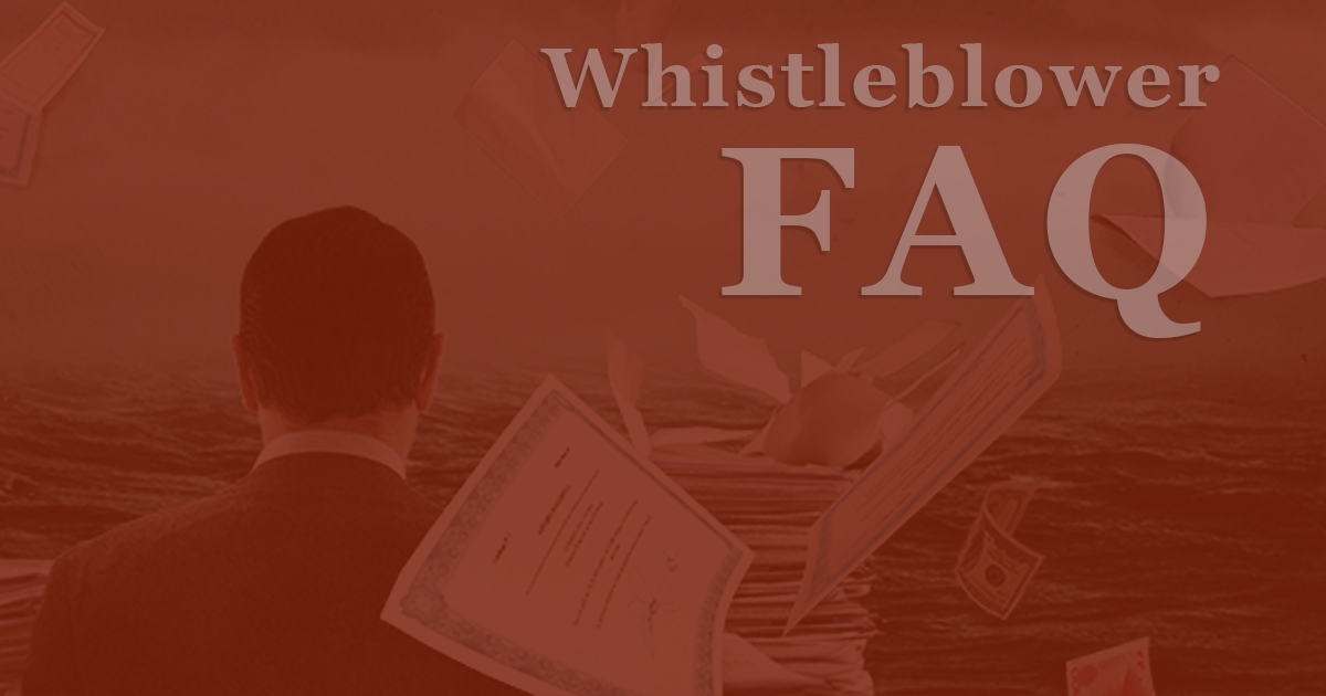 FAQs about whistleblowers