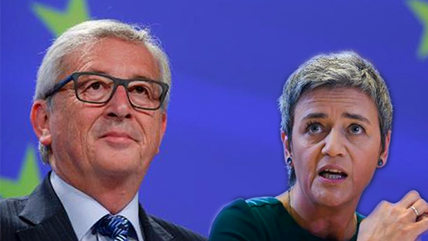 Margrethe Vestager and Jean-Claude Juncker