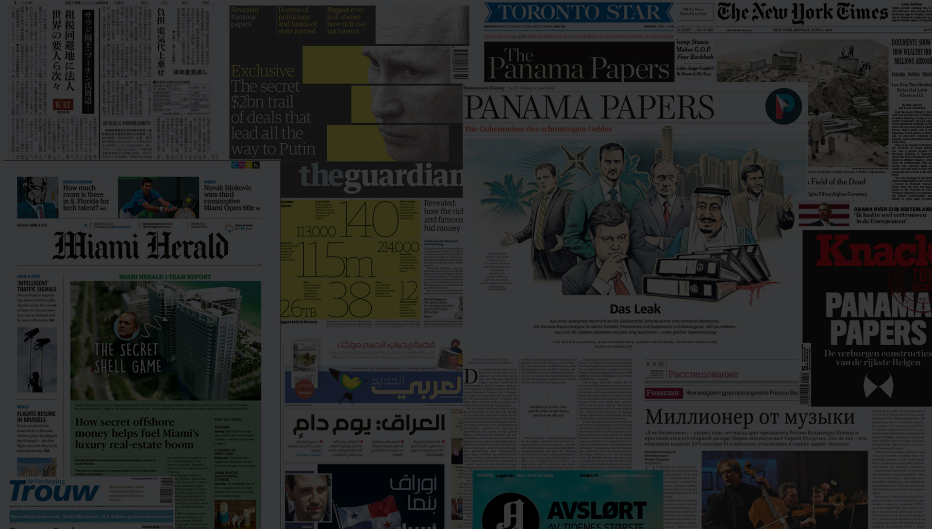 Panama Papers headlines