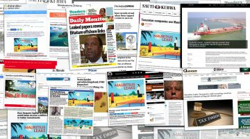 Mauritius Leaks front pages