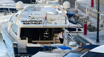 Yorgen Fenech's yacht