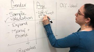 ICIJ's Emilia Diaz-Struck working on the AI project