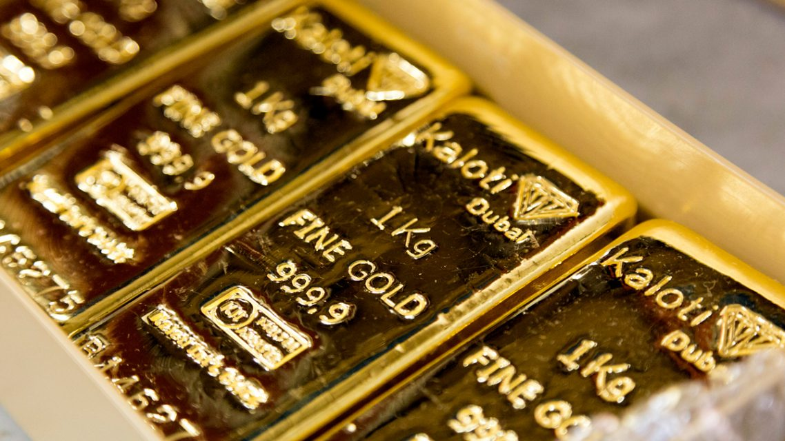 gold bars stamped with kaloti