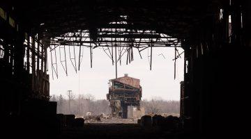 Abandoned buildings at Warren Steel, Ohio.