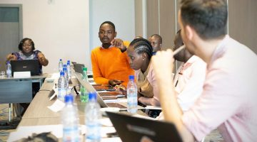 Journalists training in Benin