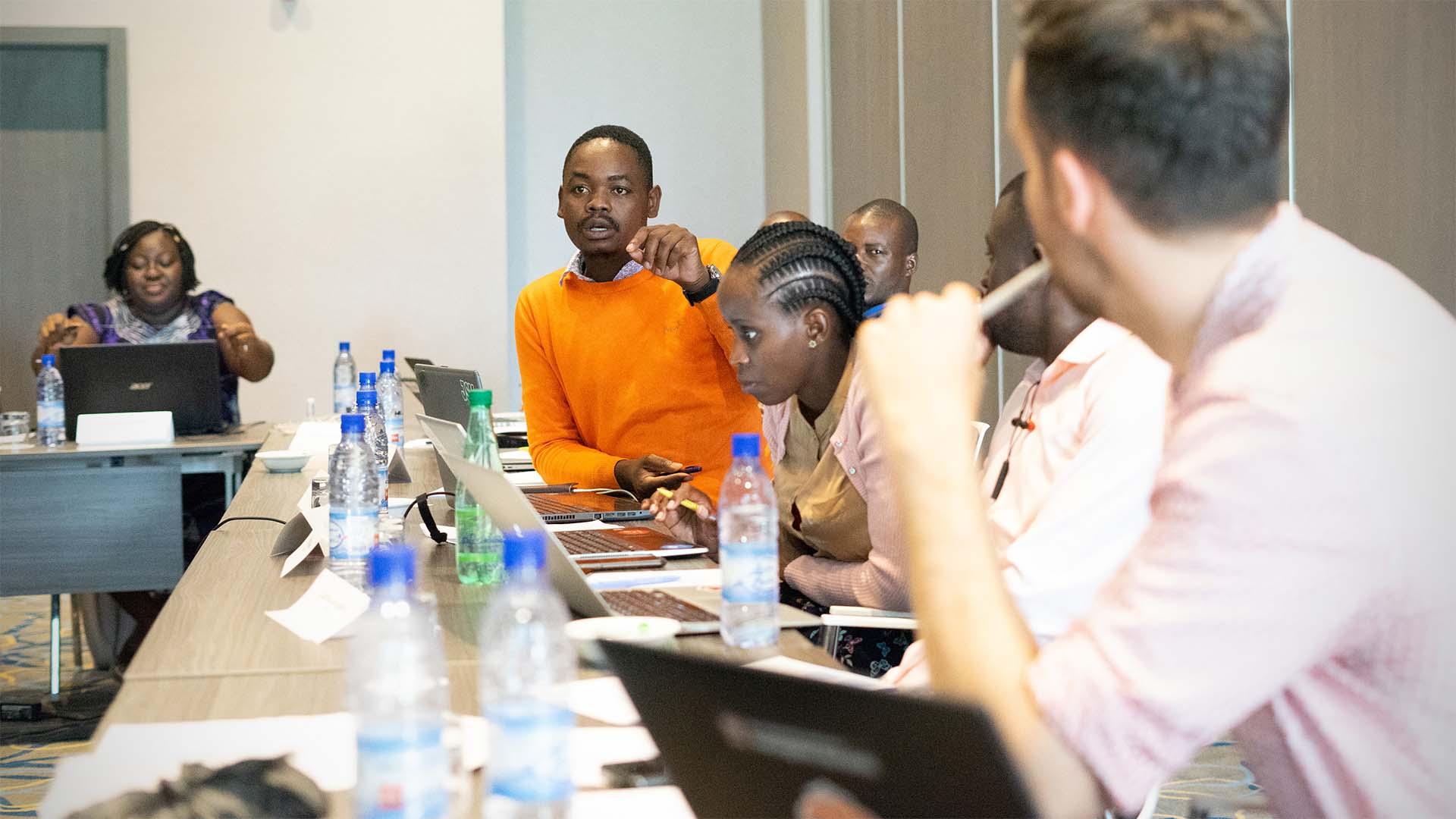 Journalists training in Benin