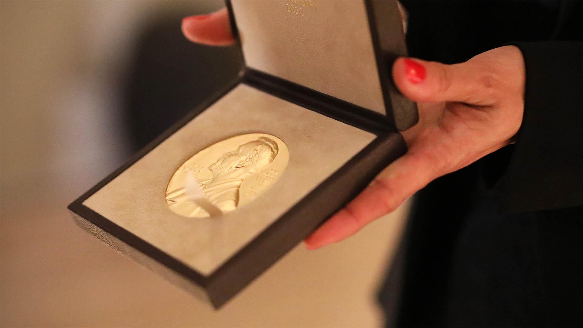 A Nobel Prize medal.