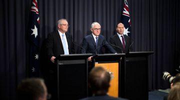 Morrison, Turnbull and Frydenberg press conference